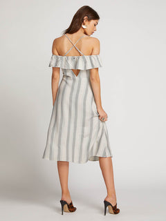 Winding Roads Dress In White Combo, Back View