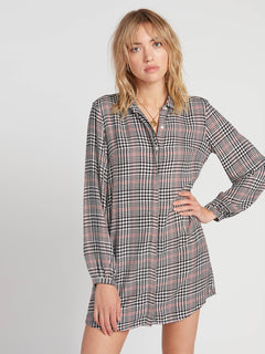 Fad Friend Dress - Black Plaid