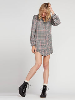Fad Friend Dress - Black Plaid (B1331909_BLP) [F]