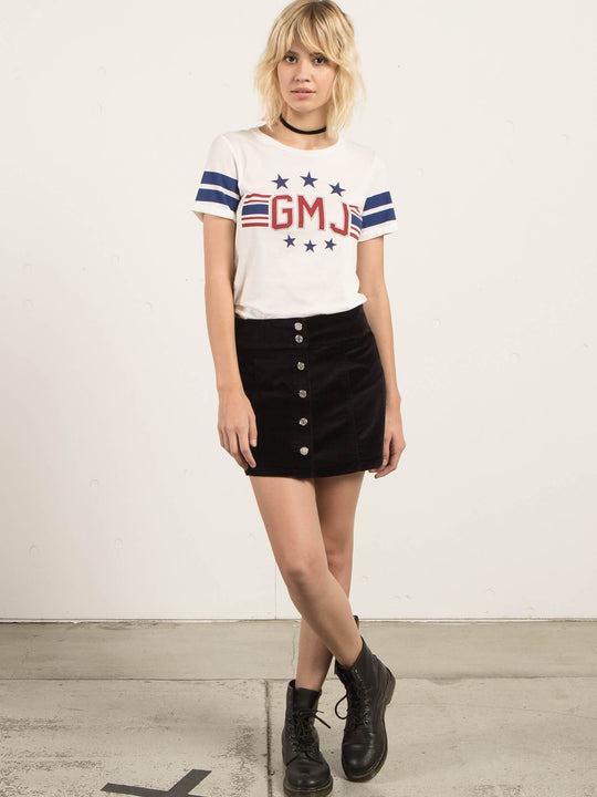 Gmj Skirt In Black, Front View