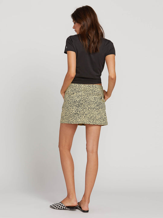 Frochickie Skirt In Leopard, Back View