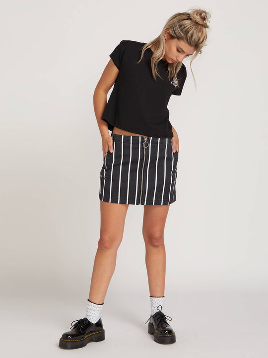 Frochickie Skirt In Stripe, Front View