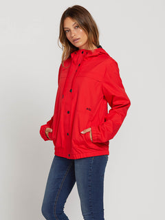 Enemy Stone Jacket In Flash Red, Second Alternate View