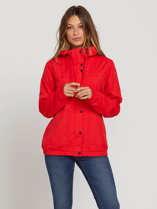 Enemy Stone Jacket In Flash Red, Front View