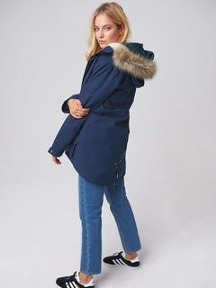 Less Is More Parka - Sea Navy