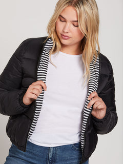Puffs N Stuf Rev Jacket - Black (B1541901_BLK) [023]