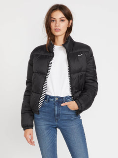 Puffs N Stuf Rev Jacket - Black (B1541901_BLK) [F]