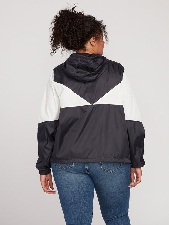 WIND STONED JACKET PLUS SIZE - BLACK WHITE (B1541904P_BWH) [B]