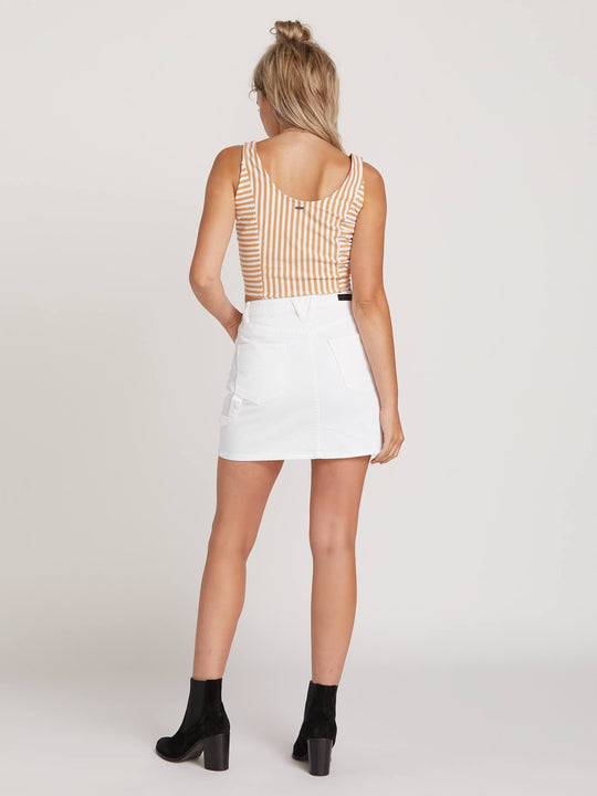 Fix It Mini Skirt In White, Back View
