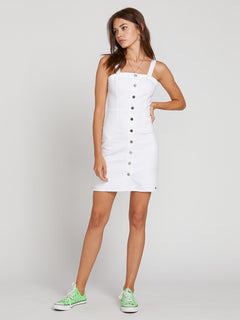 Vol Stone Dress In Paint White, Front View