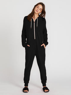 Lived In Lounge Onesie - Scarlet (B2841802_BLK) [F]
