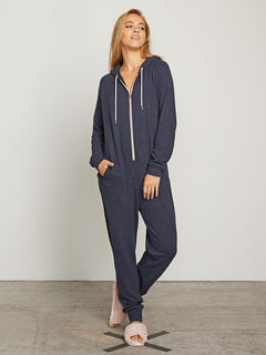 Lil Onesie In Sea Navy, Front View