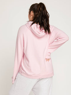 Lived In Lounge Hoodie In Blush Pink, Back Extended Size View