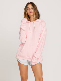 Lived In Lounge Hoodie In Blush Pink, Front View