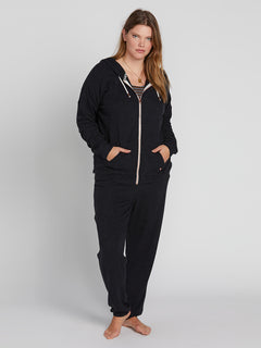 Lived In Lounge Zip Fleece - Black (B3111802P_BLK) [4]