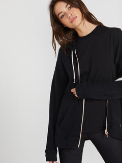 Lived In Lounge Zip Fleece - Black (B3111802_BLK) [3]