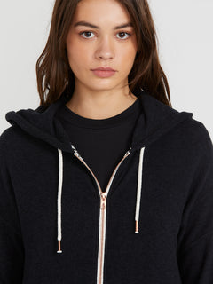 Lived In Lounge Zip Fleece - Black (B3111802_BLK) [4]