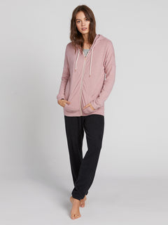 Lived In Lounge Zip Fleece Hoodie - Faded Mauve (B3111802_FMV) [2]