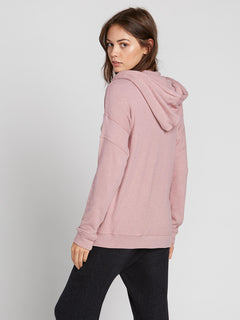 Lived In Lounge Zip Fleece Hoodie - Faded Mauve (B3111802_FMV) [B]