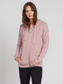Lived In Lounge Zip Fleece Hoodie - Faded Mauve (B3111802_FMV) [F]