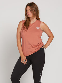 Throw Shade Tank In Mauve, Front Extended Size View