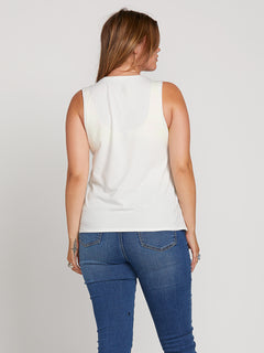 Throw Shade Tank In Star White, Back Extended Size View