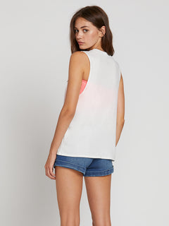 Throw Shade Tank In Star White, Back View