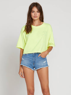 Neon And On Tee In Neon Yellow, Second Alternate View