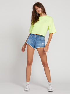 Neon And On Tee In Neon Yellow, Fifth Alternate View