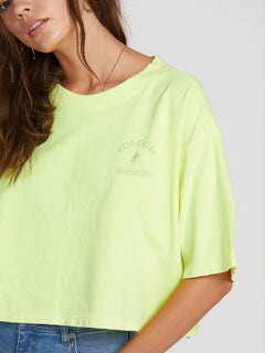 Neon And On Tee In Neon Yellow, Sixth Alternate View
