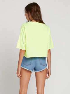 Neon And On Tee In Neon Yellow, Back View