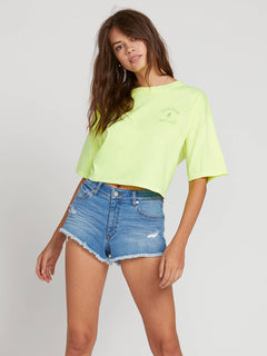 Neon And On Tee In Neon Yellow, Front View