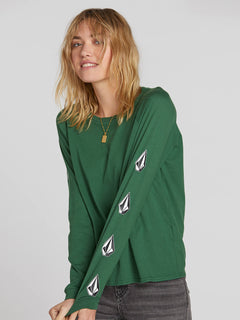 Deadly Stones Long Sleeve - Green (B3531903_GRN) [1]
