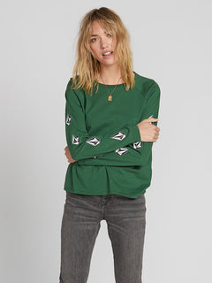 Deadly Stones Long Sleeve - Green (B3531903_GRN) [F]