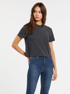 Pocket Stone Tee - Heather Black (B3532007_HBK) [F]