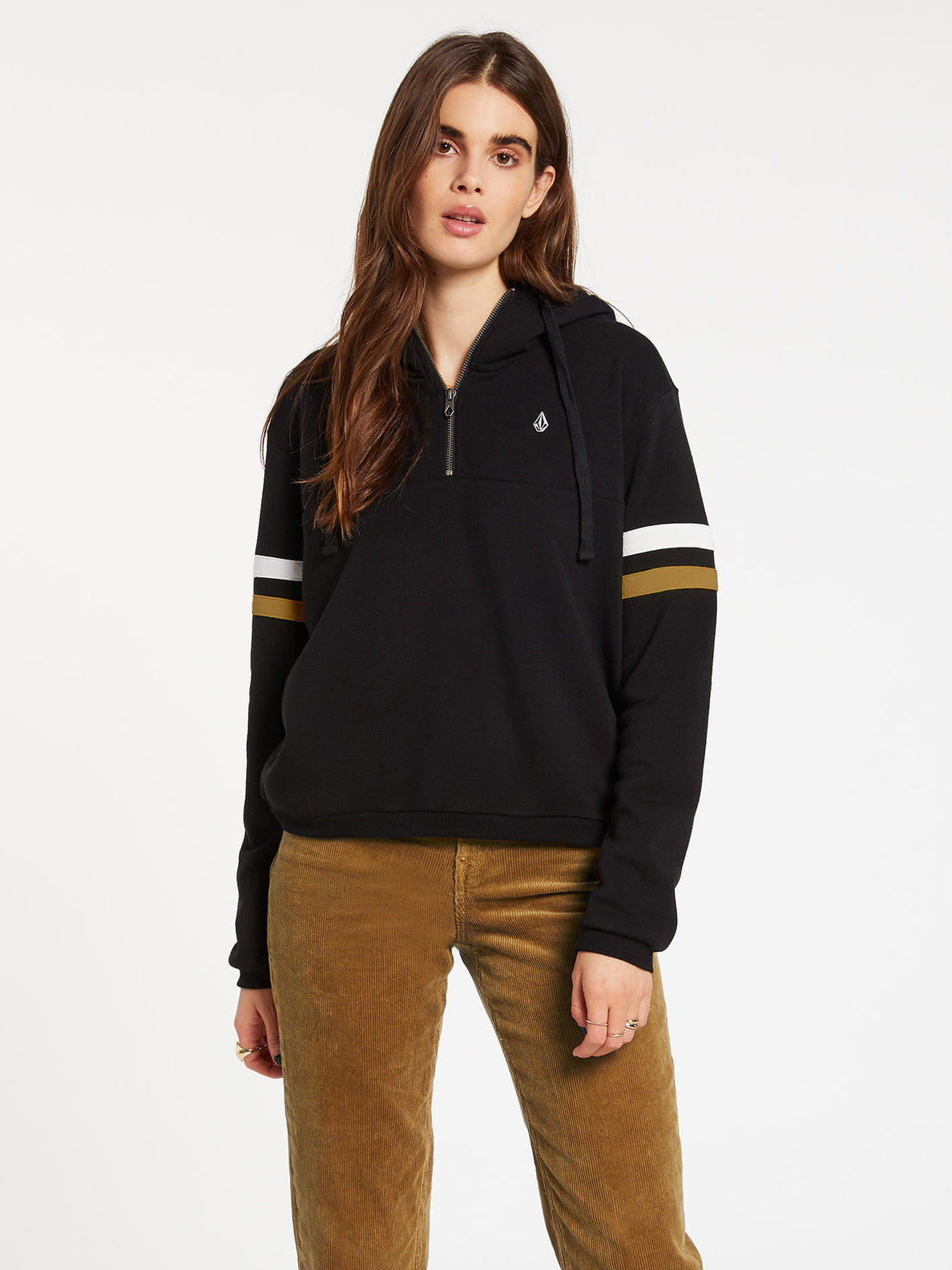 Color Coded Hoodie - Black (B4132001_BLK) [F]