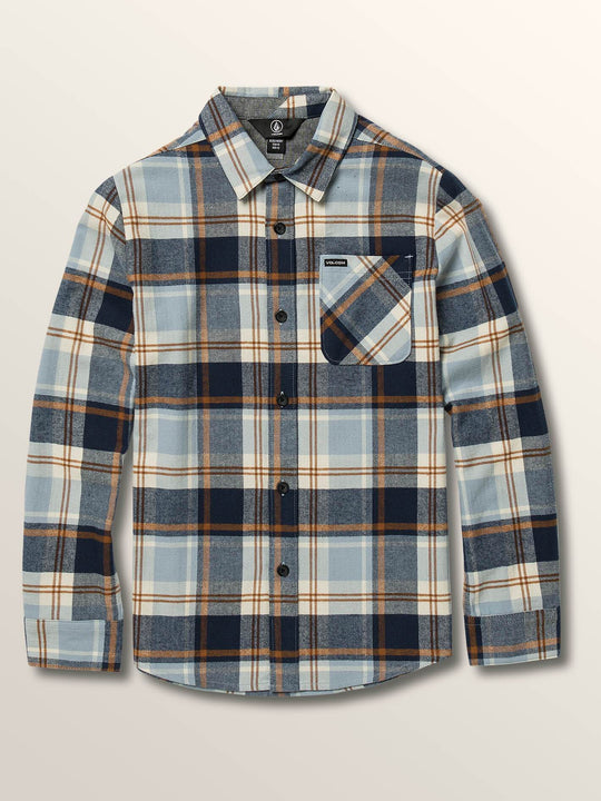 Big Boys Caden Plaid Long Sleeve Flannel