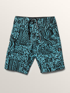 Big Boys Logo Plasm Mod Boardshorts In Blue Bird, Front View