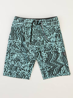 Big Boys Logo Plasm Mod Boardshorts In Pale Aqua, Front View