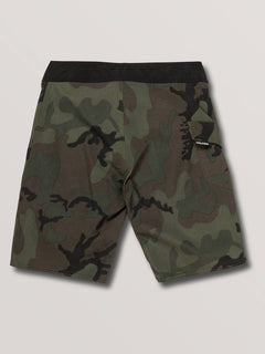 Big Boys Deadly Stones Mod Boardshorts In Camouflage, Back View