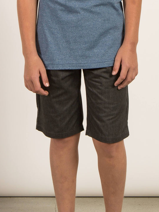 Big Boys Frickin Chino Shorts In Charcoal Heather, Front View