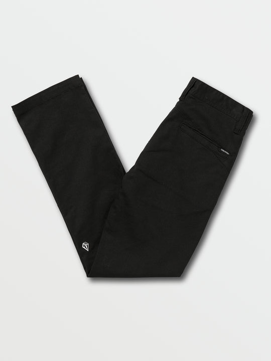 Big Boys Frickin Modern Stretch Chino Pants In Black, Back View