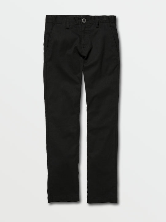Big Boys Frickin Modern Stretch Chino Pants In Black, Front View