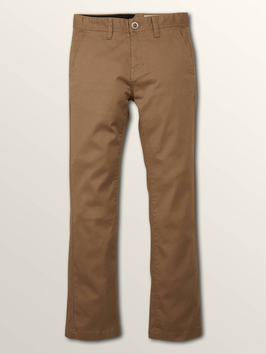 Big Boys Frickin Slim Chino Pants In Beige, Front View