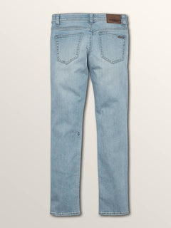 Big Boys Solver Modern Tapered Jeans In Allover Stone Light, Back View