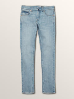 Big Boys Solver Modern Tapered Jeans In Allover Stone Light, Front View
