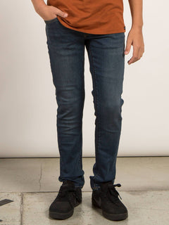 Big Boys Solver Modern Tapered Jeans In Dust Bowl Indigo, Front View