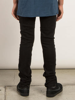 Big Boys Solver Modern Tapered Jeans In New Black, Back View