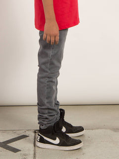 Big Boys Solver Modern Tapered Jeans In Power Grey, Second Alternate View