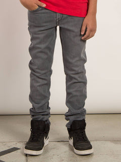 Big Boys Solver Modern Tapered Jeans In Power Grey, Front View